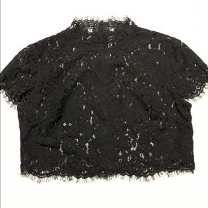 Keepsake the Label Interlude Cropped Lace Top